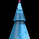Un sapin de Noël en carton à vos couleurs à partir de 45 euros