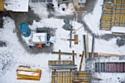 La vague de froid de février 2012 a perturbé l'activité sur les chantiers.