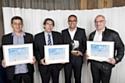 Les trois lauréats de la catégorie Vente-Marketing-Communication avec GérardBouhanna (2e à gauche), p-dg d'Oki Printing Solutions.