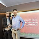De gauche à droite : Sacha Bostoni et Antonin Chartier, lauréats 2012 du Grand Prix pour leur concept Jimmy Fairly.