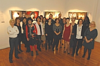 Les entrepreneuses lors de l'inauguration de l'exposition