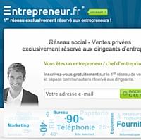 Entrepreneur.fr, nouveau réseau social et de ventes privées exclusivement dédié aux entrepreneurs