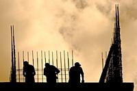 Le taux de fréquence d'accidents du travail dans le BTP est 46,8 % en 2011.