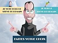 Affiche du concours 'À la recherche du nouveau Steve'.