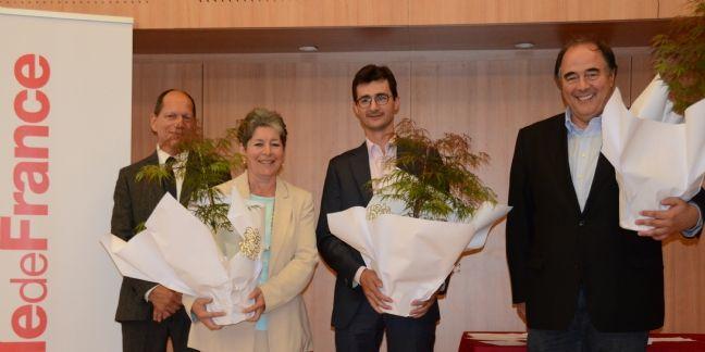 Didier Comelli, Claudine Jousse (Comelli), Pierre Cazeneuve (Hesus) et Patrick Henri (Endodiag)
