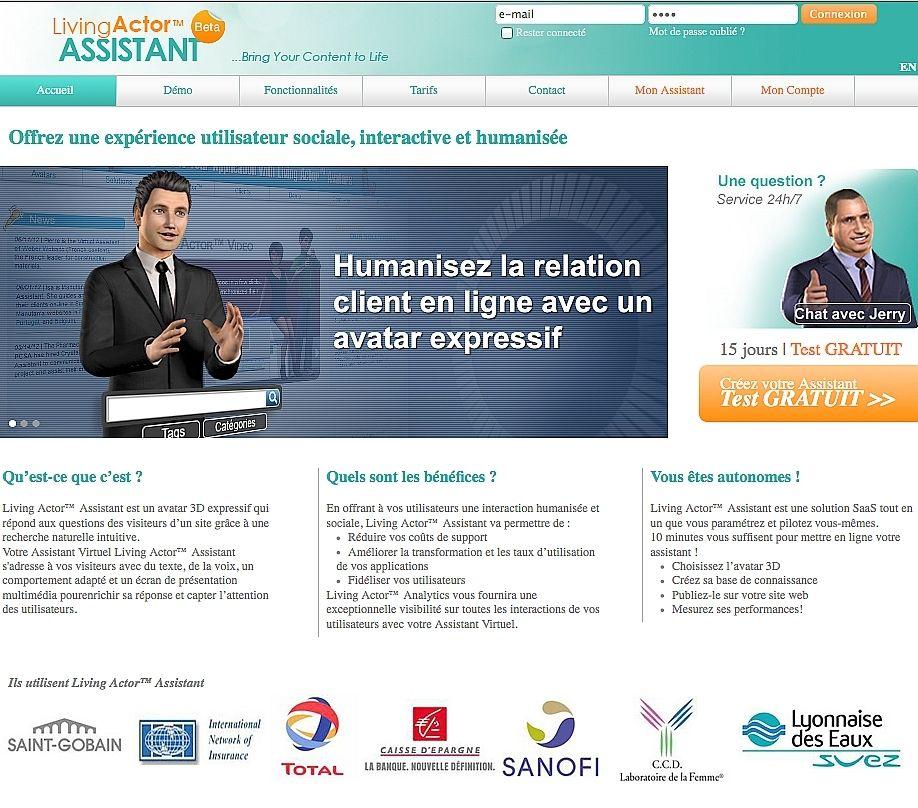 Un assistant virtuel interactif conçu pour les sites des PME