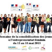 Top départ de la semaine de sensibilisation des jeunes à l'entrepreneuriat féminin