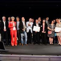 Photo de famille des lauréats des Trophées Chef d'Entreprise 2013.