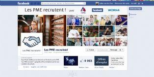 Création d'une page Facebook dédiée au recrutement des PME