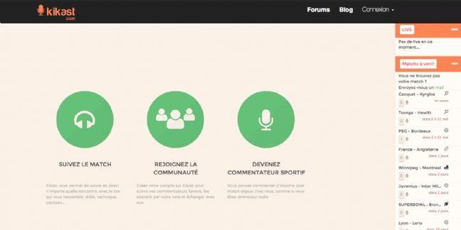 [Start-up] Kikast, webradio où les amateurs s'improvisent commentateurs sportifs