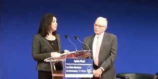 Sylvia Pinel, au côté de Gérard Atlan lors des Etats Généraux du commerce 2014