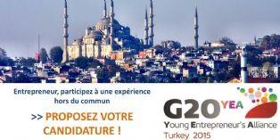 G20 YEA 2015 : vous avez jusqu'au 27 avril pour intégrer la délégation française d'entrepreneurs