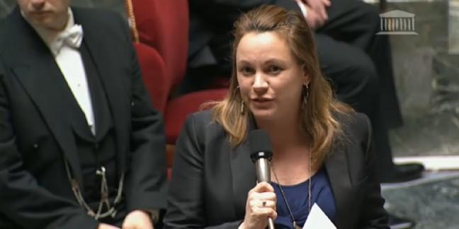 Axelle Lemaire, lors de la première lecture à l'Assemblée nationale le 20 janvier 2016.