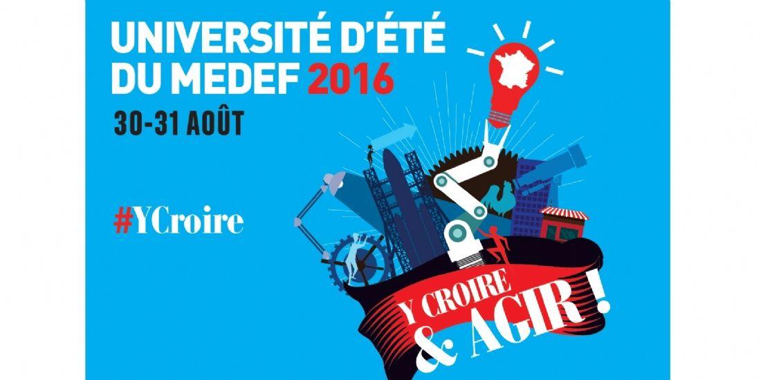 Le Medef tiendra son Université d'été les 30 et 31 août 2016