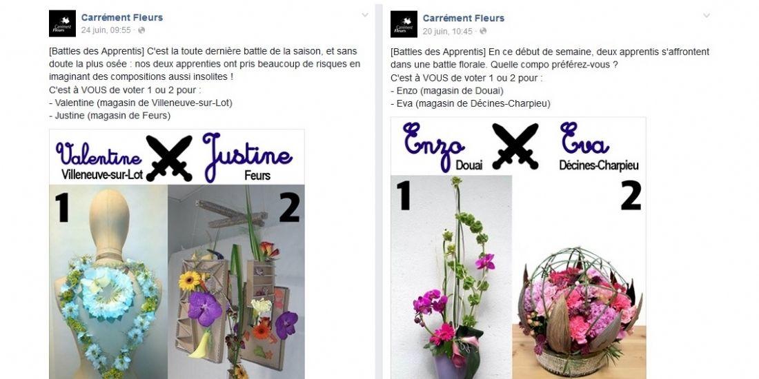 Carrément Fleurs organise un concours d'apprentis sur Facebook