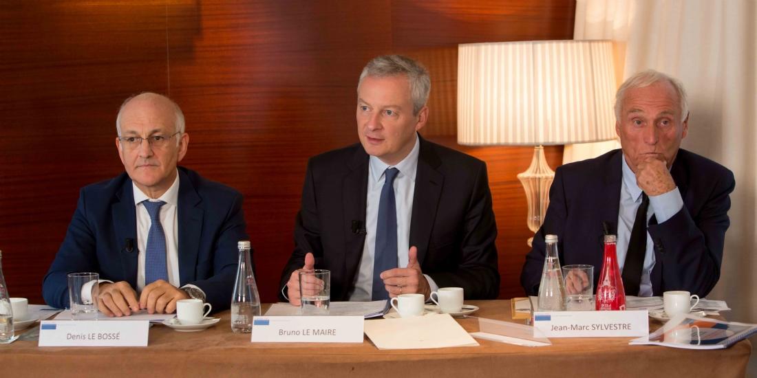 Bruno Le Maire, ministre de l'Economie et des Finances, a participé mardi 3 octobre 2017 à un petit-déjeuner débat avec des chefs d'entreprises organisé par le cabinet ARC
