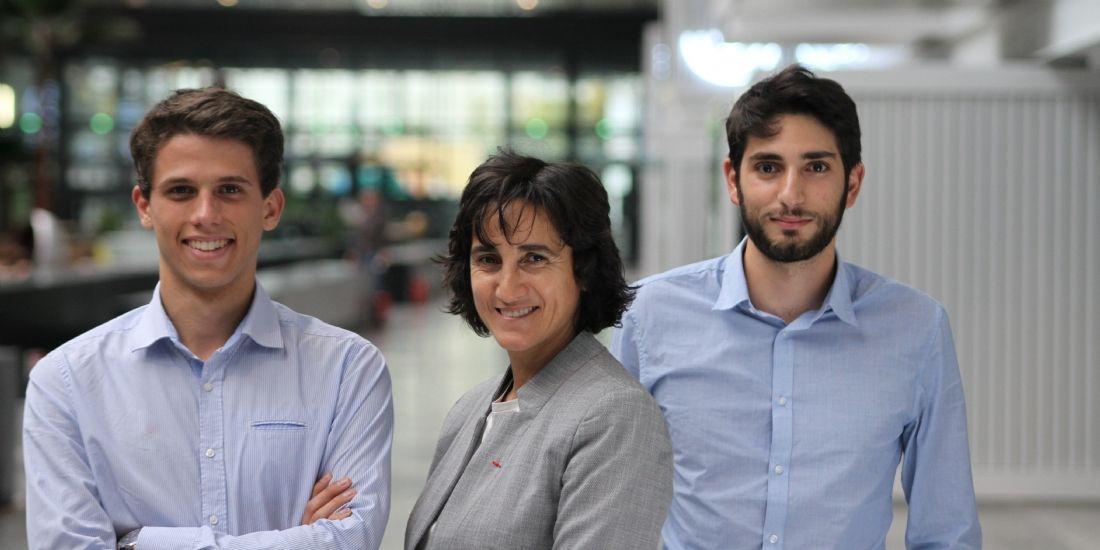 L'équipe de la start-up GarantMe : Thomas Reynaud, Mylène Romano et Emile Karam