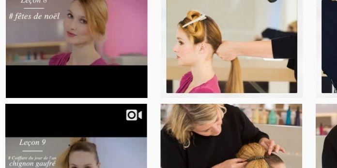 A Paris, une coiffeuse dispense des conseils sur le web