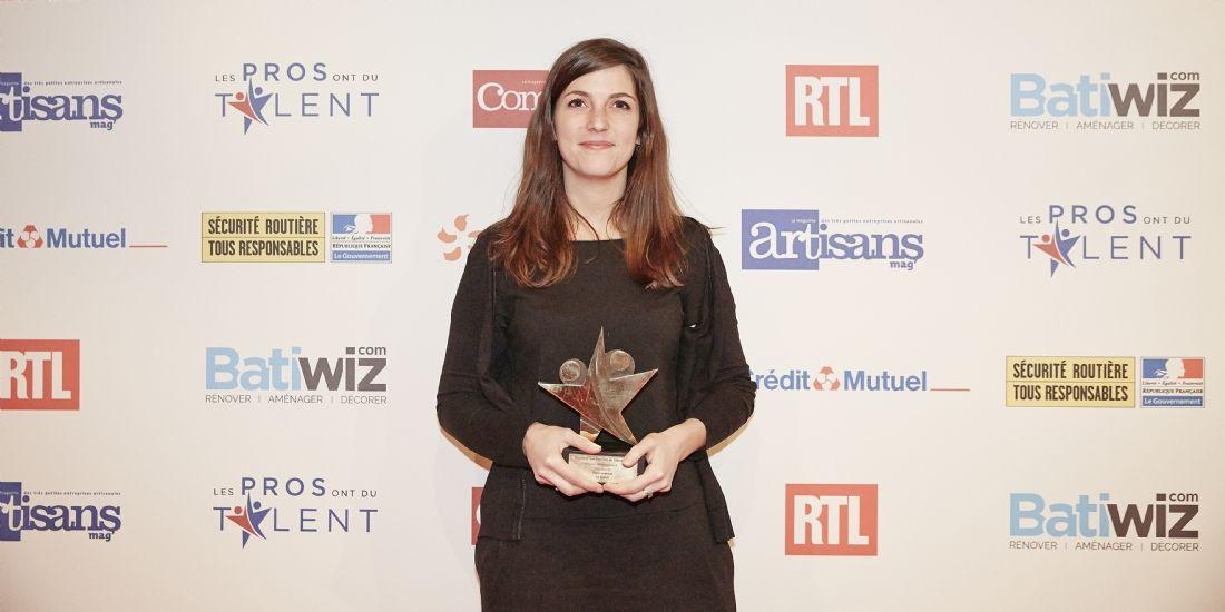 Les Pros ont du talent 2017 : Flore Lelièvre, dirigeante du restaurant le Reflet, remporte le prix Or de la catégorie Management