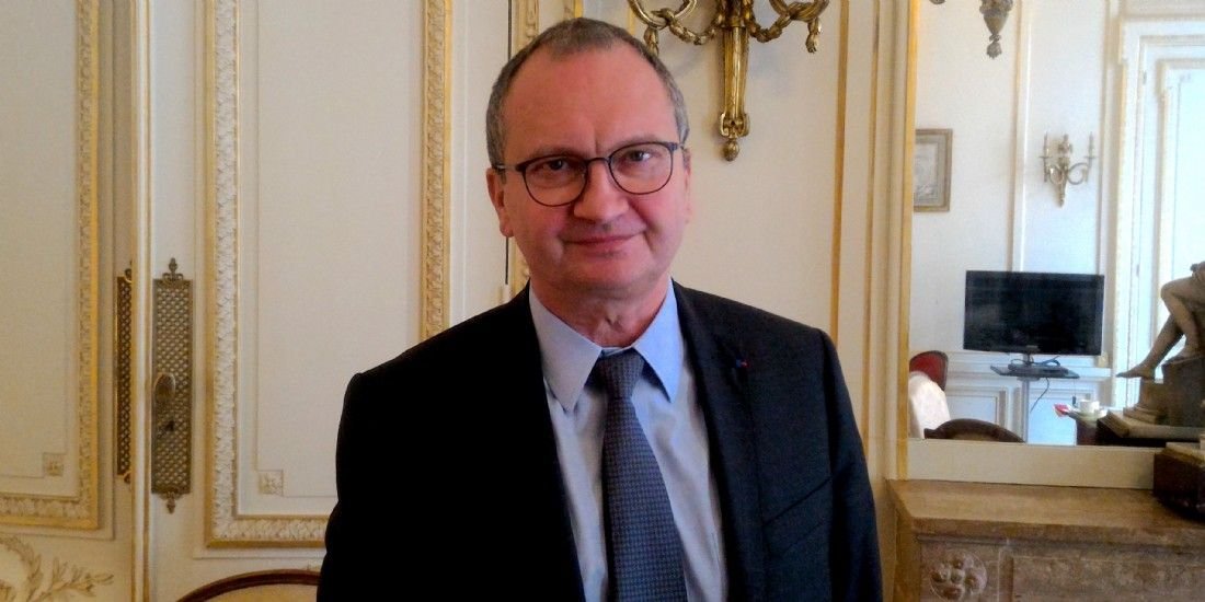 Jacques Chanut, président de la Fédération française du bâtiment (FFB), à Paris le 29 mars 2017.