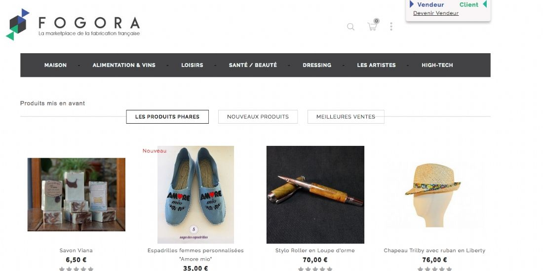 Fogora, une marketplace dédiée au made in France