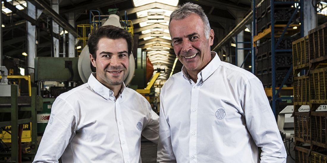 Romain Souvignet, dg d'Obut et son père Pierre, p-dg de l'entreprise
