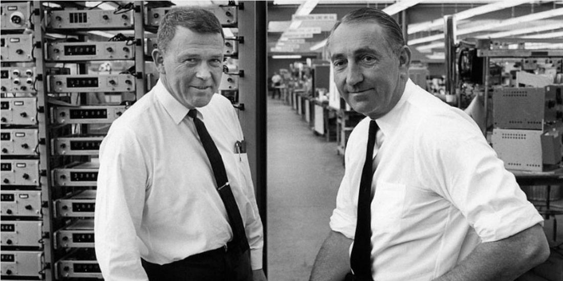 De gauche à droite : William Hewlett et David Packard