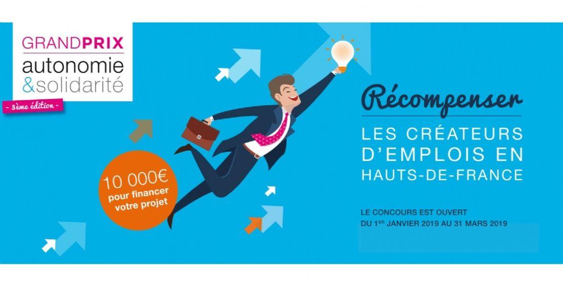 Créateurs d'entreprises en Hauts-de-France : troisième édition du Grand Prix Autonomie & Solidarité