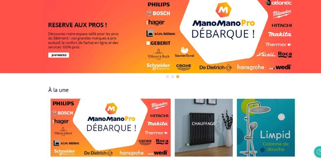 ManoMano lance une plateforme dédiée aux professionnels du bâtiment