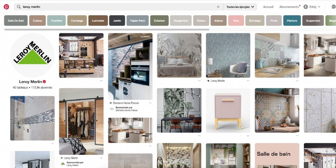 Pinterest lance Catalogues et Shopping Ads en France