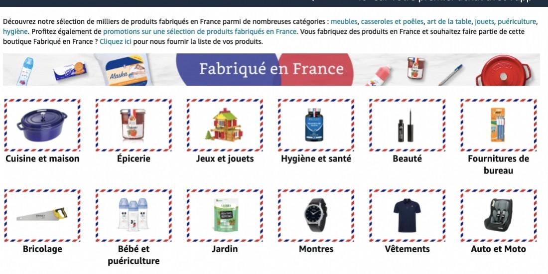 Amazon lance une marketplace dédiée au made in France