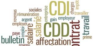Les contrats de travail peuvent différer sur les conditions de rupture et les durées d'engagement notamment.